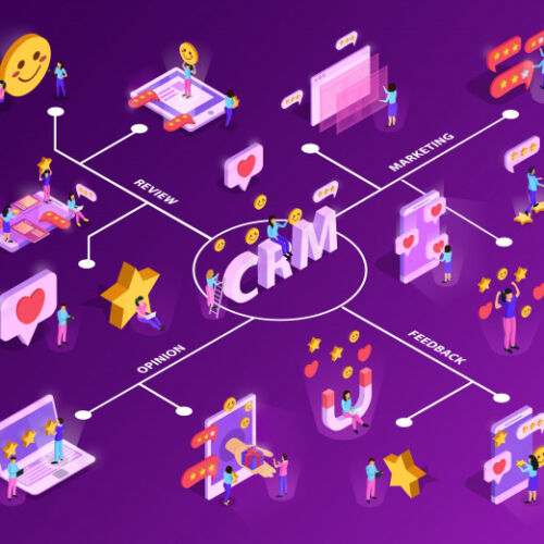 crm-system-with-customer-attraction-feed-back-isometric-flowchart-purple_1284-28826