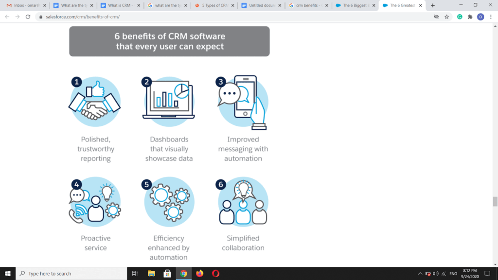 benefits of CRM Software that every user can expect