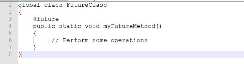 The Syntax for Future Method