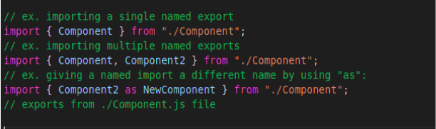 Import multiple objects or functions